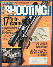Magazine SHOOTING TIMES January 1992  !SMITH & WESSON Model 60 .38 Sp. REVOLVER!