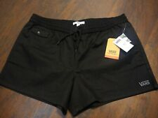 NEW Vans Caleel Shortie (Black) Women's Shorts size XL