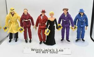 """Lot of 6 Dick Tracy Disney Applause 1990 9"""" Dolls"""