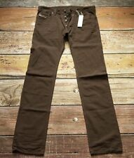 NEW $228 Diesel Jeans Safado 0834J Brown 40x32 Reg Slim Straight Cotton W40 L32