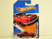 HOT WHEELS 1967 FORD MUSTANG SHELBY GT500 FASTBACK NEW IN 2011 PACKAGE DETAILED