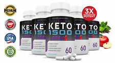 Advanced Keto 1500 Max 1200MG goBHB Weight Loss Diet Pills Supplement 5 Pack