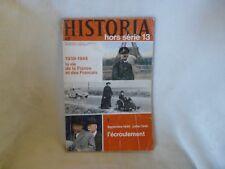 HISTORIA HORS SERIE n°13 1939/1944 LA VIE DE LA FRANCE ET DES FRANCAIS
