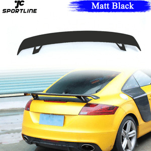 Black Fiberglass Rear Trunk Boot Spoiler Lip Wing For Audi A5 A6 A7 TT 8J 08-11