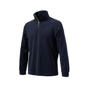 Beretta Men's Hunting Lightweight Breathable Half-Zip Fleece Navy Sweater