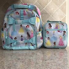 Pottery Barn Kids Disney Princess Backpack and Lunch bag Preowned