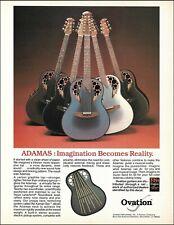 Ovation Adamas Lyrachord Roundback series guitar advertisement 1984 ad print