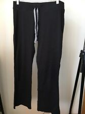 George Size 14 Black Cotton Activewear Trousers <T10876