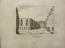 1793 ANTIQUE LONDON PRINT ~ THE SAVOY HOSPITAL