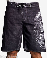Affliction - THUNDERFOOT - Men's Boardshorts Swim Trunks - Shorts - NEW - Black