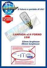 """LAMPADA FORNO E14 15W TUBOLARE 300° luce calda  """"no led no risparmio no neon"""""""