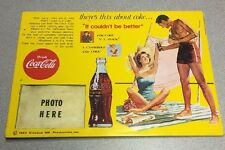 Vintage Coke Advertising Sign Collectible Soda Pop Up Display Coca Cola Antique