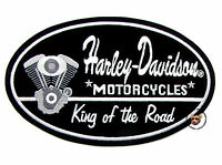 HARLEY DAVIDSON KING OF THE ROAD V-TWIN PATCH ** LARGE ** DISCONTINUED