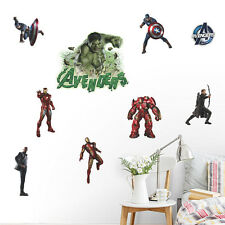 Captain America Marvel Avengers Wall Stickers Kids Room Decor Decal Super Hero