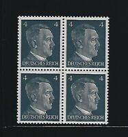 MNH stamp block / Adolph Hitler / PF04 / WWII Germany / 1941 Third Reich issue