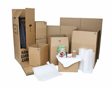 HOUSE HOME PACKING MOVING KIT REMOVALS CARDBOARD BOXES TAPE BUBBLE - 41 BOXES!!