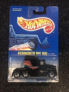Hot Wheels~1992~Collector No. 76~Blue Card~Kenworth Big Rig~Wheel Variant~Clean