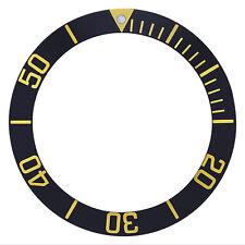 Bezel Insert For 43Mm Case Tag Heuer Aquaracer 300Mm Watch Black Gold Number