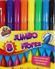 8 Jumbo Fibres Marker Pens Colours Artbox Non Toxic Kids Colouring Felt Tips