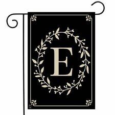 Classic Monogram Letter E Garden Flag