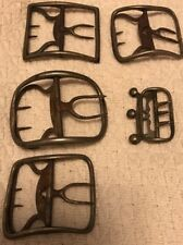 Antique Collection c1770 Revolutionary War 18th Century Silver Shoe Buckles CT