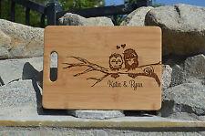 Personalized Cutting Board, Cute OWl Cutting Board,Laser engraved cutting board