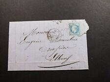 France Cover 1864 Paris 20c Stamp