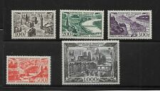 France Scott #C23-#C27 mint never hinged 1949-50 Paris airmail set og, very fine