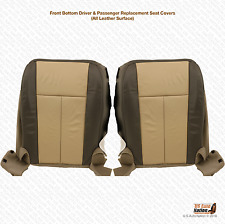 2007 2008 Ford Expedition Eddie Bauer Driver-Passenger Bottom Leather Seat Cover