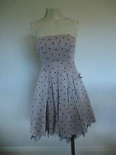 LADIES PINK & BLACK HEART PARTY DRESS BY ASOS SIZE 8 UK
