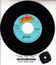 THE BEACH BOYS  Fun, Fun, Fun & Don't Worry Baby 45 record + juke box strip NEW