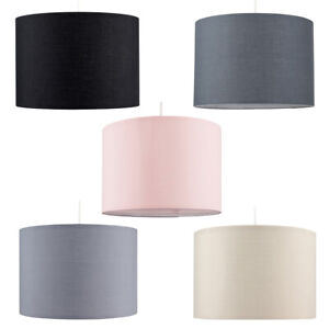 Modern Drum Light Shades Fabric Cotton Easy Fit Ceiling Pendant Lampshade