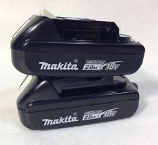 Two Makita BL1820B 18V Compact Li-Ion 2.0 Ah Batteries W/ Fuel Gauge - GENUINE