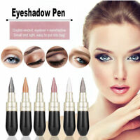 Waterproof 2 in 1 Black Liquid Eyeliner Pen Eye Liner Pencil Eye Shadow Makeup