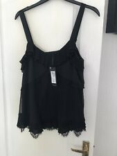 Marks And Spencers Autograph Black Top New Size 12