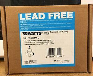 "Watts LFN45BM1-U 3/4"" 50psi Water Pressure Reducing Valve Lead Free New"