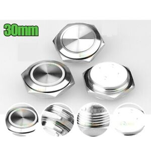30mm Stainless steel short touch push button, momentary tact switch with Led 2A