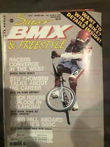 Super BMX and freestyle August 1986 Old School Vintage Bicycle magazine gjs