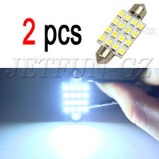 2X white 42mm 16SMD Car LED Festoon Dome Map Interior Cargo Light Bulb 211 578
