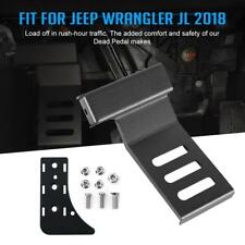 Metal Dead Pedal Left Side Foot Rest Kick Panel for Jeep Wrangler JL 2018 2019