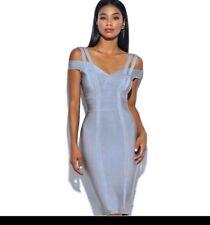 powder blue bodycon rayon bandage dress size XS (6-8) evening formal