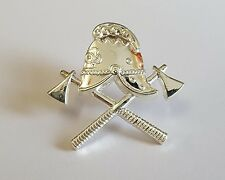 White Metal Lapel Badge Fire Service
