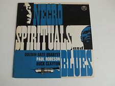 Negro Spirituals And Blues Golden Gate Quartet Robeson Clayton LP