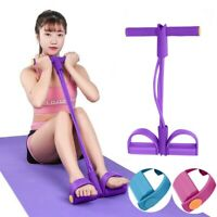 PVC Ankle Puller Sit Up Mat Pull Rope Foot Pedal Exerciser Fitness Equipment