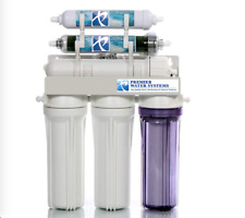 Dual Outlet 100 GPD Reverse Osmosis Water Filter System Drinking/Aquarium RO/DI