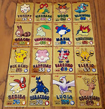 Japanese Meiji Chocolate 2000 Gold Series Pokemon Complete Set of 16 cards