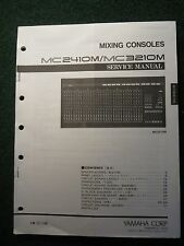 Yamaha Mixing Console Service Shop Manual Schematics MC2410M MC3210M 1993