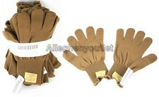 QTY 10 USGI USMC COYOTE BROWN / TAN FIELD LW WOOL GLOVES D3A LINERS SMALL NEW