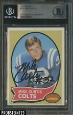 1970 Topps Football #201 Mike Curtis Signed AUTO Baltimore Colts BGS BAS