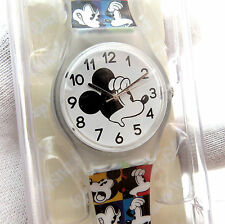"""MICKEY MOUSE,Disney""""Park Exclusive""""NIB, Mickey Face Band, MEN/KIDS WATCH, R18-09"""